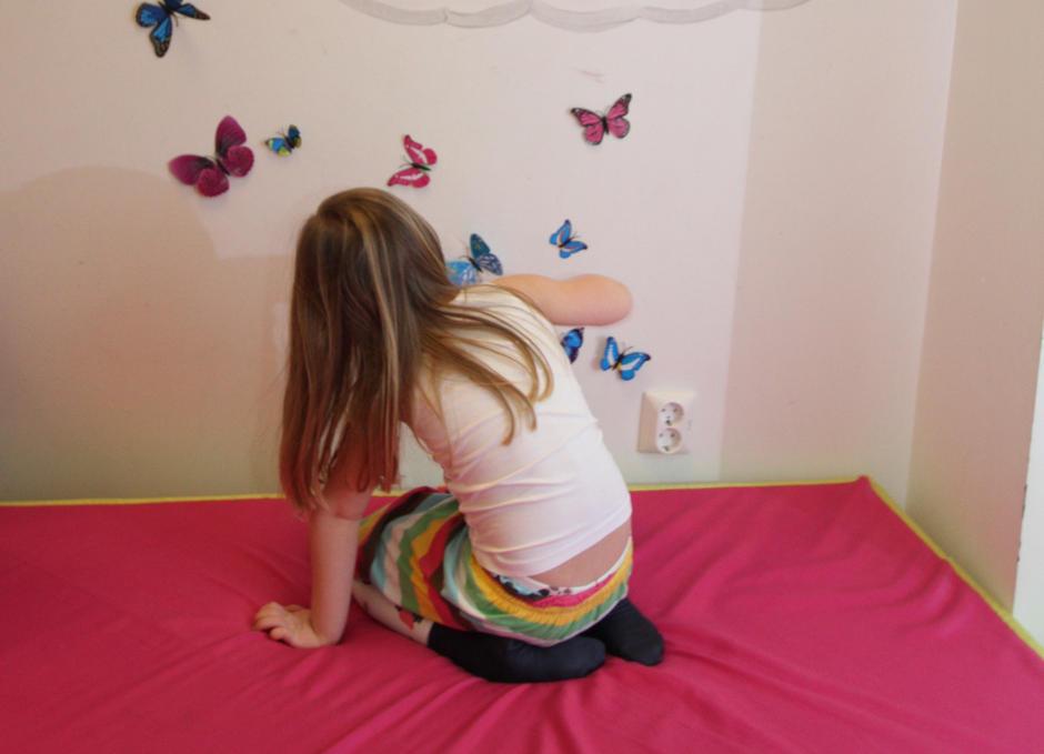 La tankene fly med sommerfuglene
