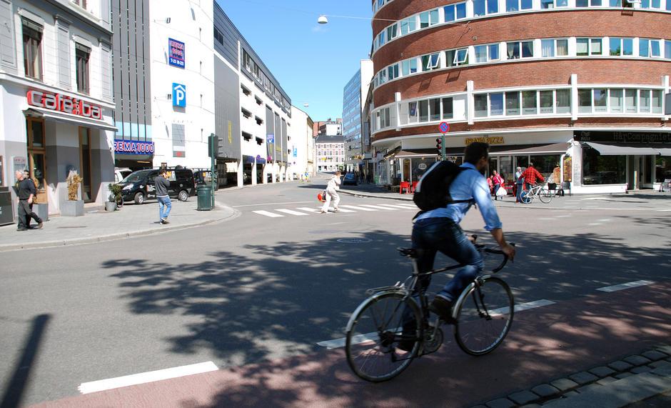 Christian Kroghs gate skal få røde sykkeltfelt og sykkelbokser i kryss.