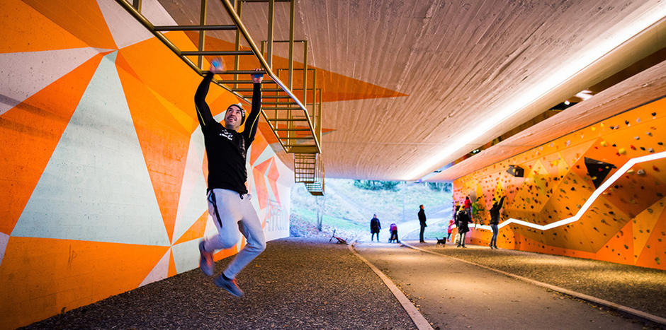 Tunellen på Ammerud innbyr til aktivitet døgnet rundt