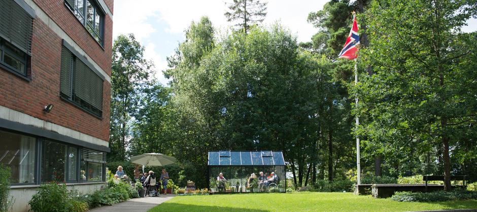 Bilde av hagen til Nordberghjemmet