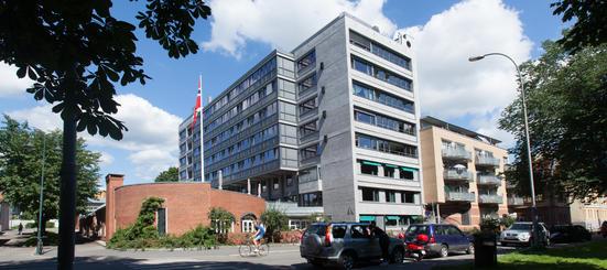 Bilde av fasaden til Sofienberghjemmet