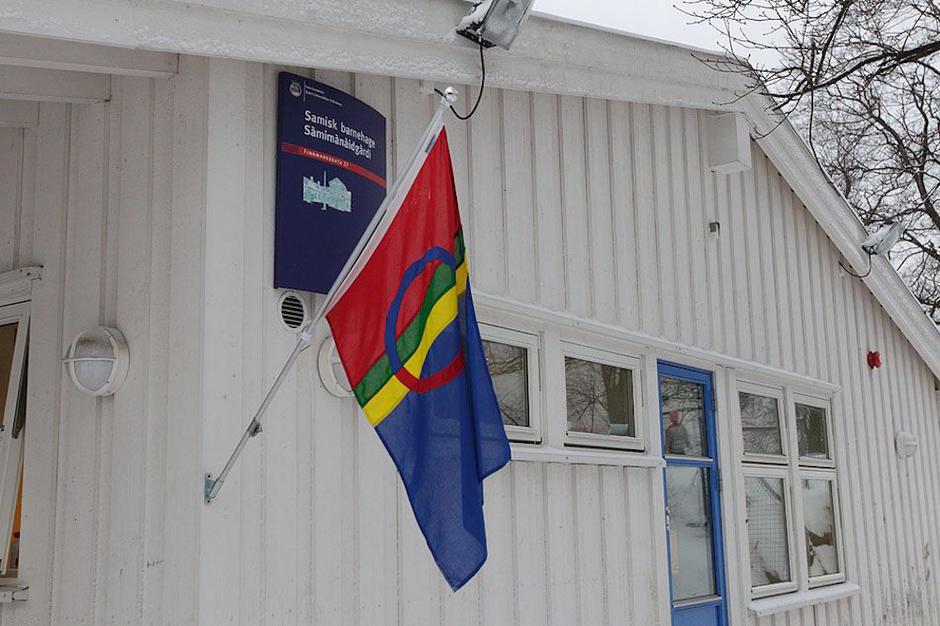 Samisk barnehage - utebilde