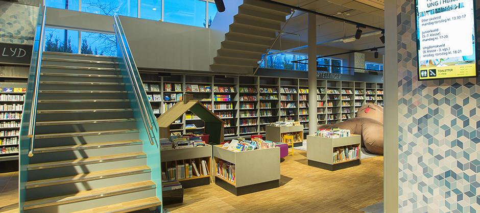 Furuset bibliotek og aktivitetshus (foto: Marco Heyda)