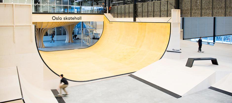 Oslo Skatehall Voldsloekka (foto: Finn Staale Felberg)