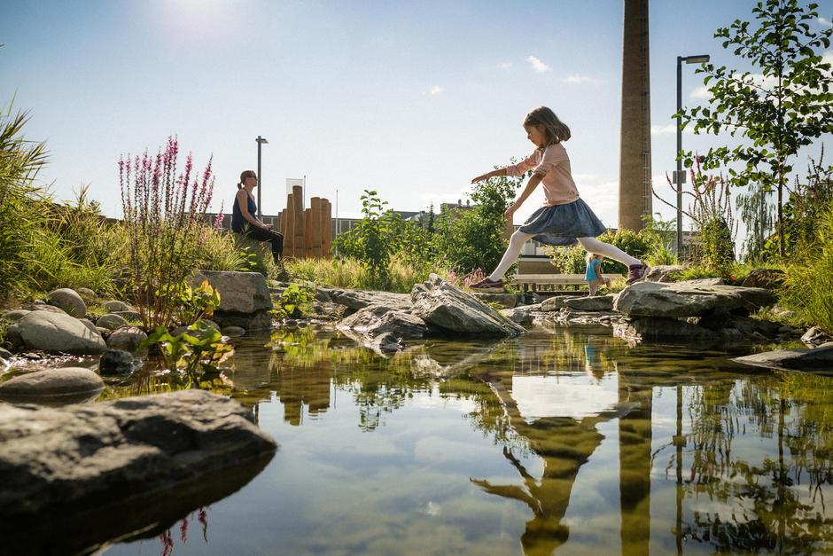 Tiedemannsparken – en av mange nye parken på Ensjø