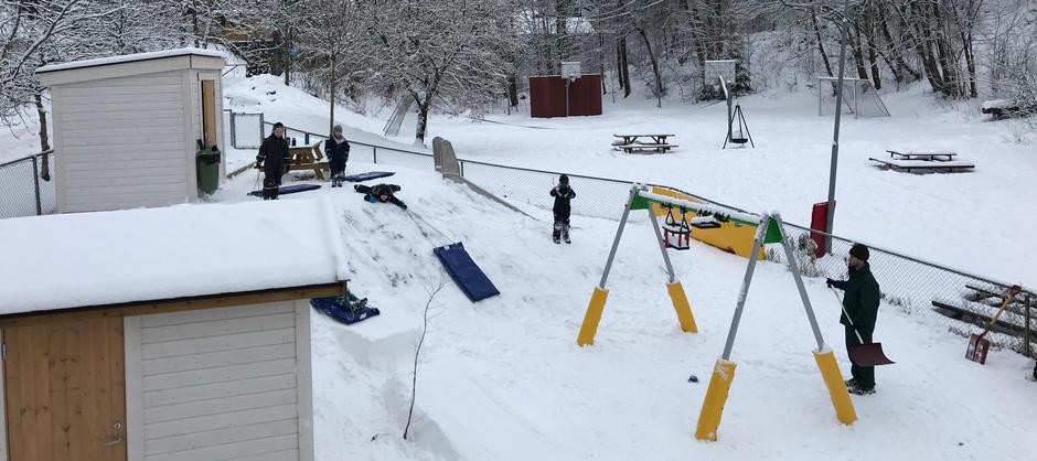 Barnehagens nye lekeplass