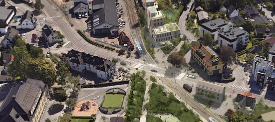 Planen legger til rette for forbedring av trafikksituasjon, park/utearealer, boliger, kontor og forretninger.