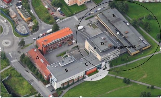 Flyfoto av etterstad videregående skole
