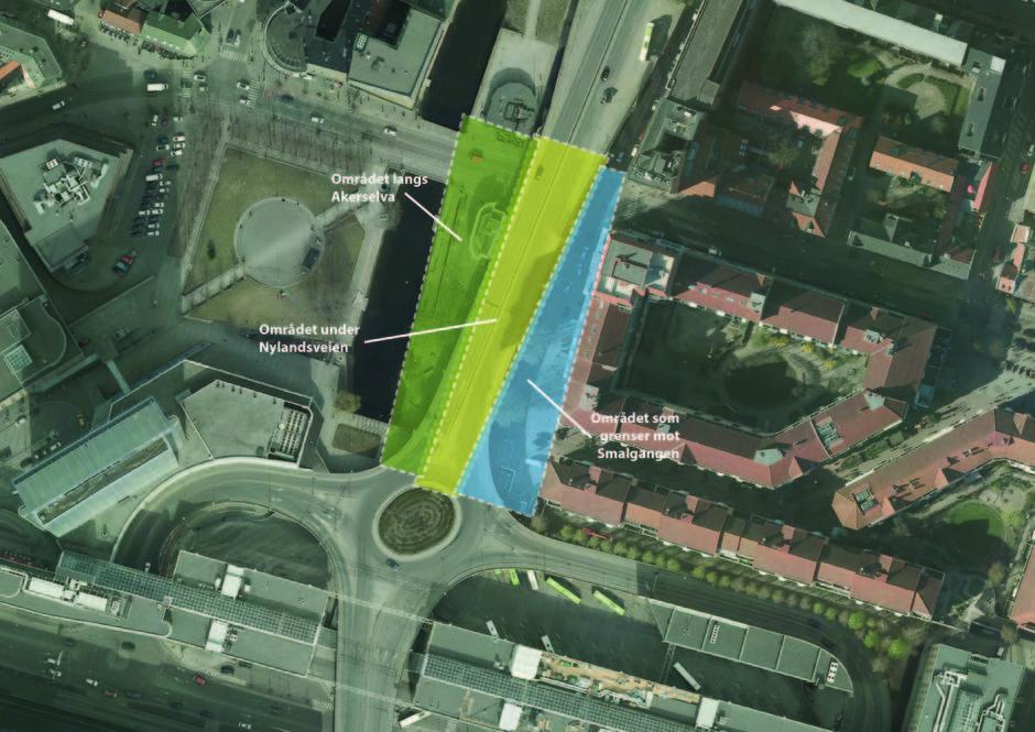 Flyfoto som viser hvor Olafiagangen ligger