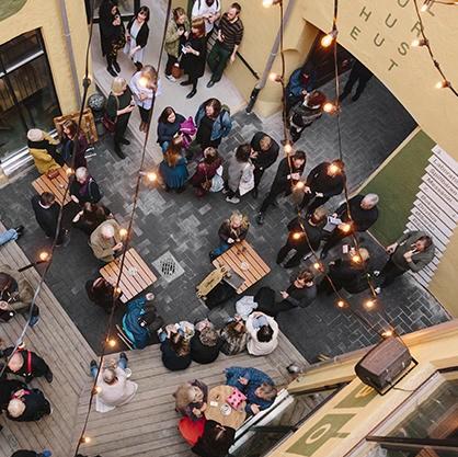 Kulturhuset ovenfra. Foto: Jan Khur