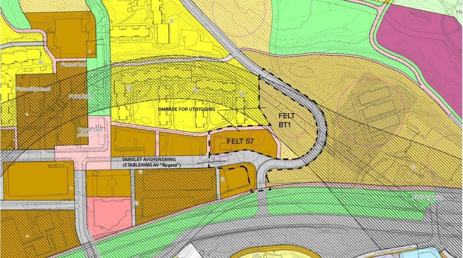 Kart over Furuset felt S7 og BT1