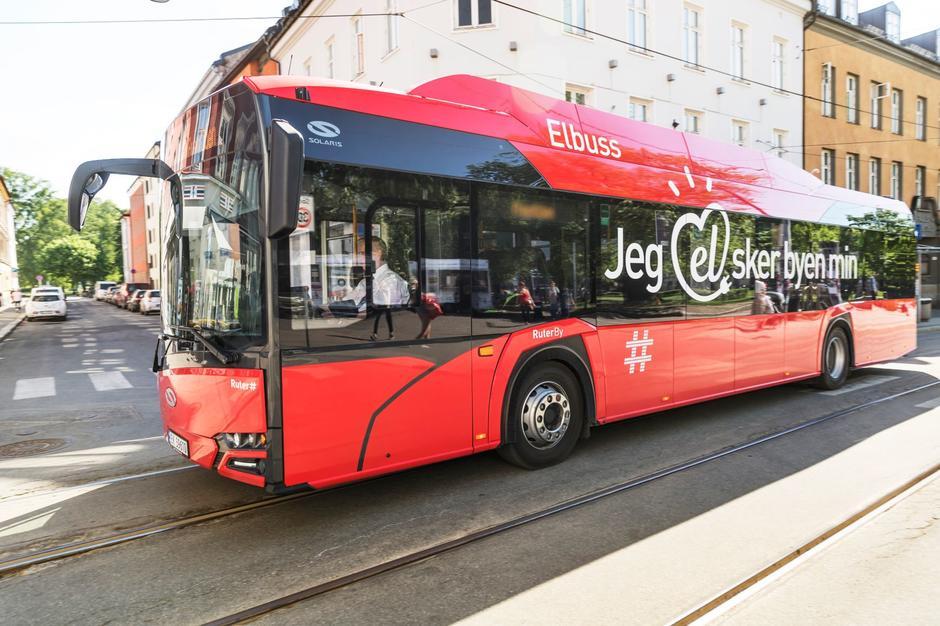 Elektrisk buss fra selskapet Ruter.