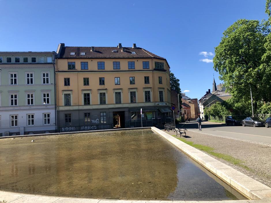 Vannspeil, øverst i Damstredet, like over gaten for Vår Frelsers Gravlund.