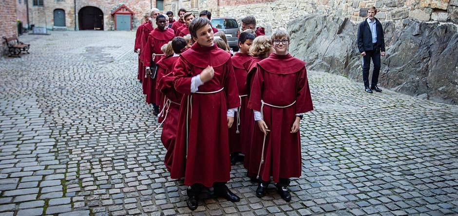 St Hallvard- guttene på Akershus slott
