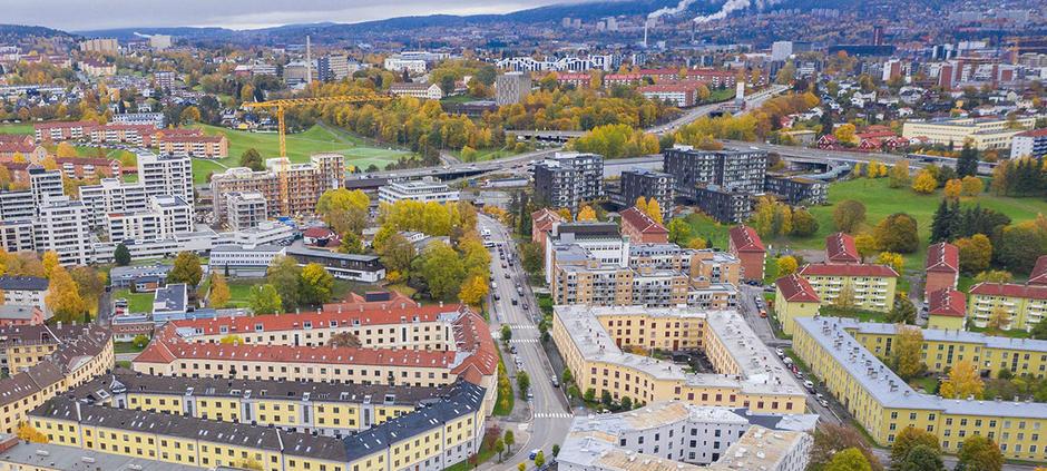 Hans Nielsen Hagues gate sett fra luften