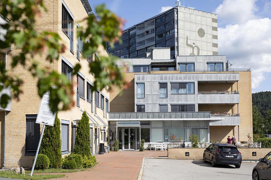 Fasaden til sykehjemmet