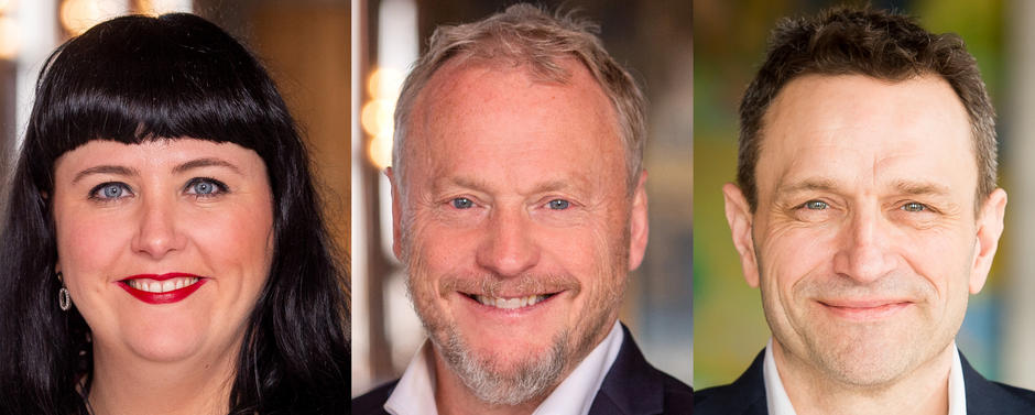 Raymond Johansen, Victoria Marie Evensen, Arild Hermstad