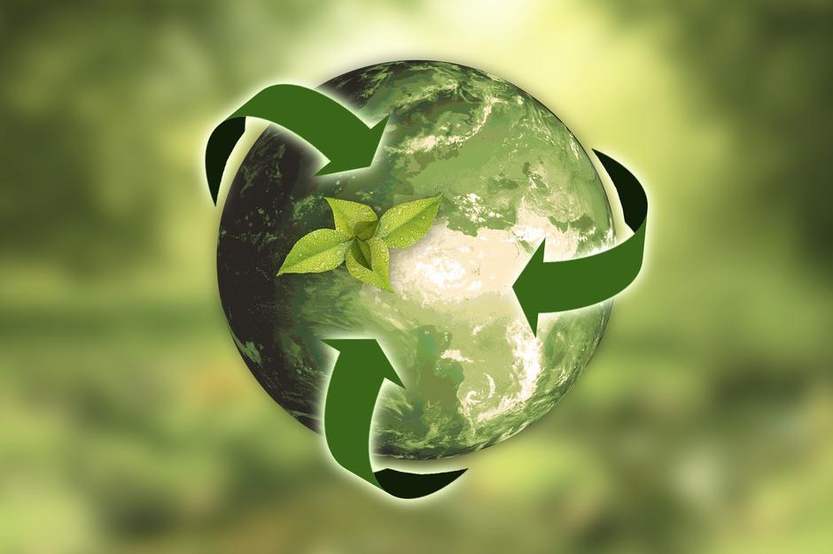 illustrasjon av en grønn jordklode
