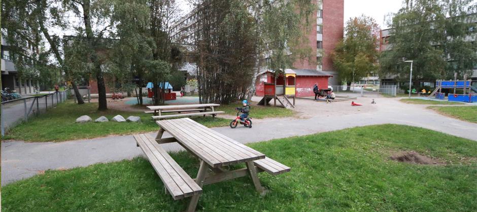 Uteområdet til SiO Barnehage Klossen