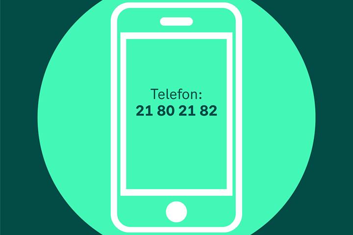Koronatelefonen har nummer 21 80 21 82. Illustrasjon: Oslo kommune.