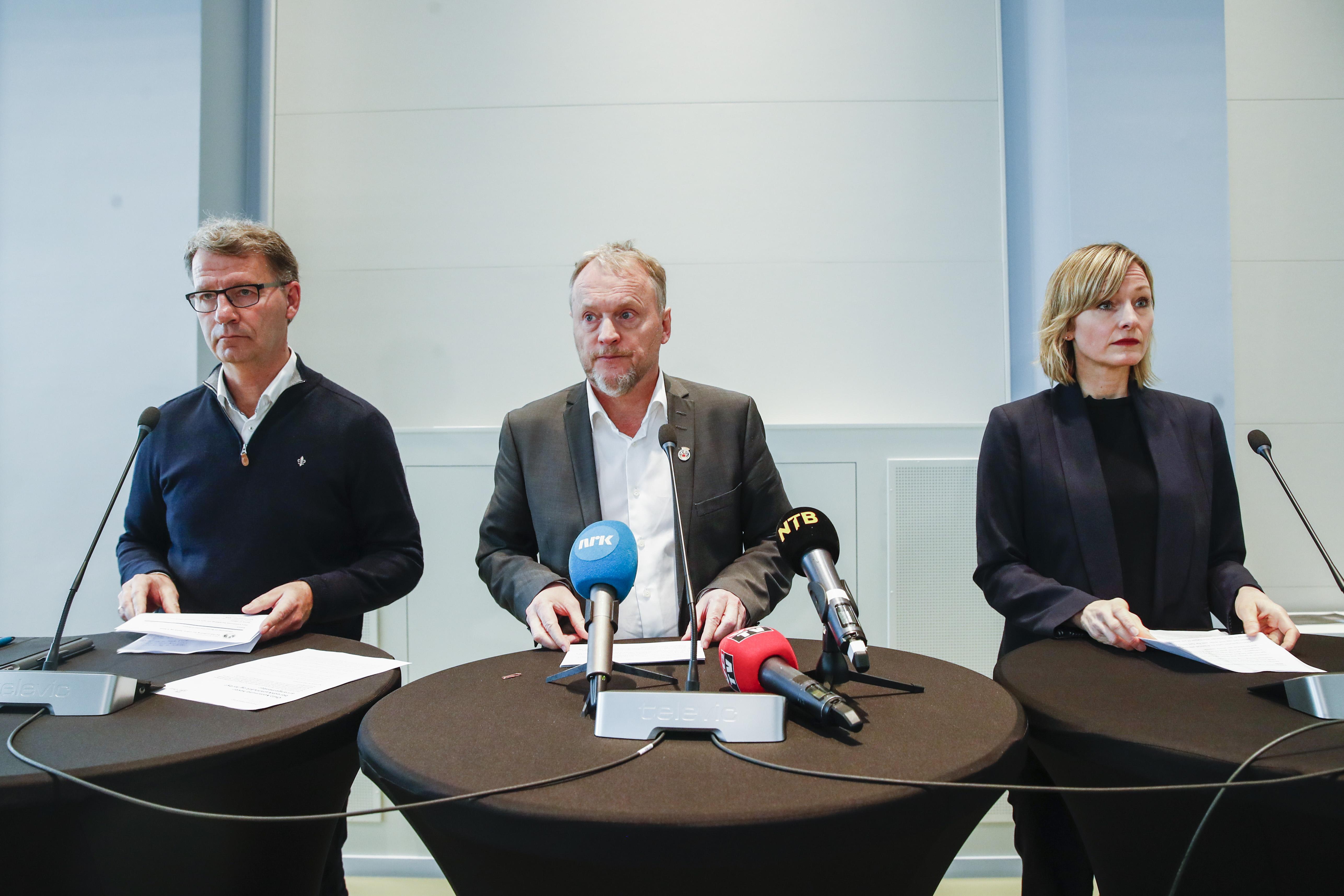 Robert Steen, Raymond Johansen og Inga Marte Thorkildsen, Foto: Scanpix