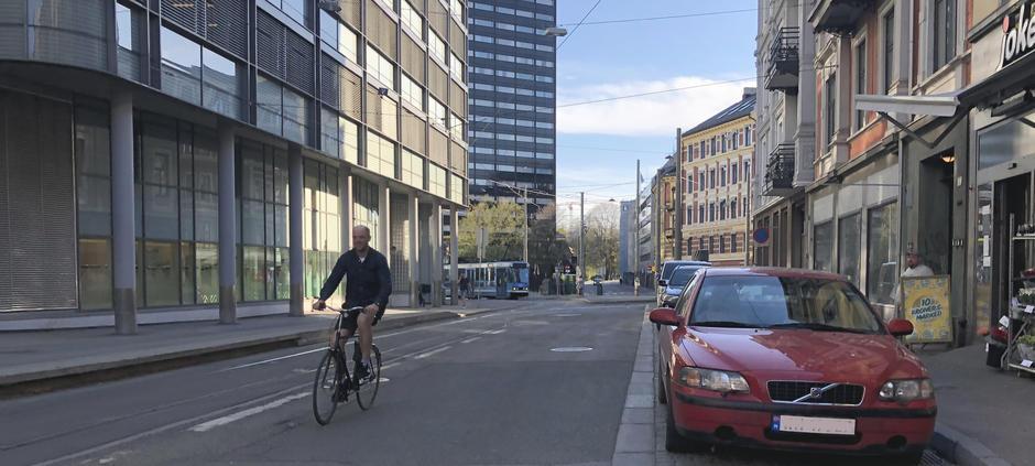 Fotografi av syklisti Holbergs gate