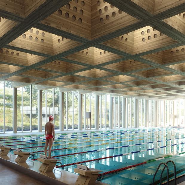 illustrasjonsfoto av det nye Tøyenbadet