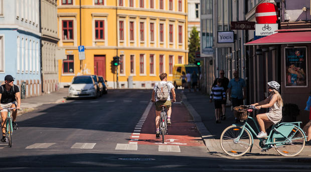 helgensensgate med syklister