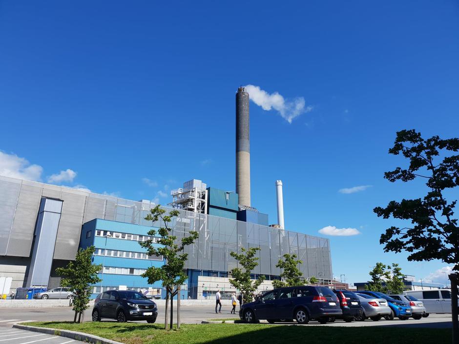 Haraldrud energigjenvinningsanlegg med pipe
