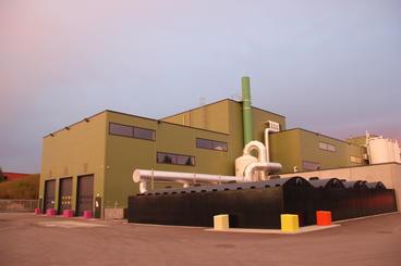 Biogassanlegget sett utenfra