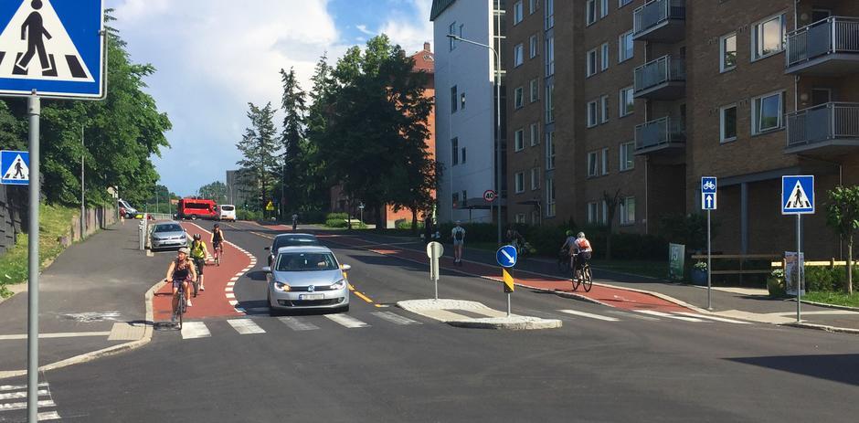 Nye sykkelfelt mellom Nordkappgata til Ring 3