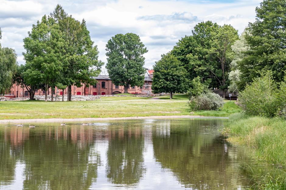 Vannspeilet i parken.