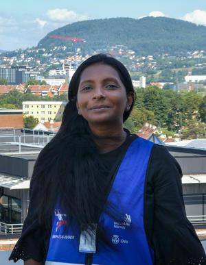 Læreplassjeger i bygg- og anleggsteknikk Sharmila Haugen