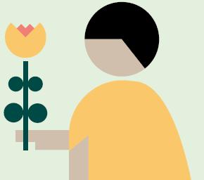 illustrasjon av menneske med blomst