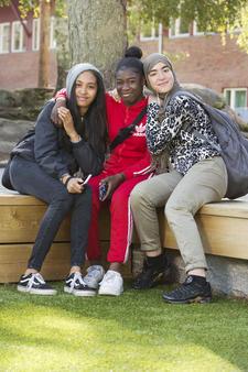 Elever ved Bjøråsen skole. Foto: Ellen J. Jarli