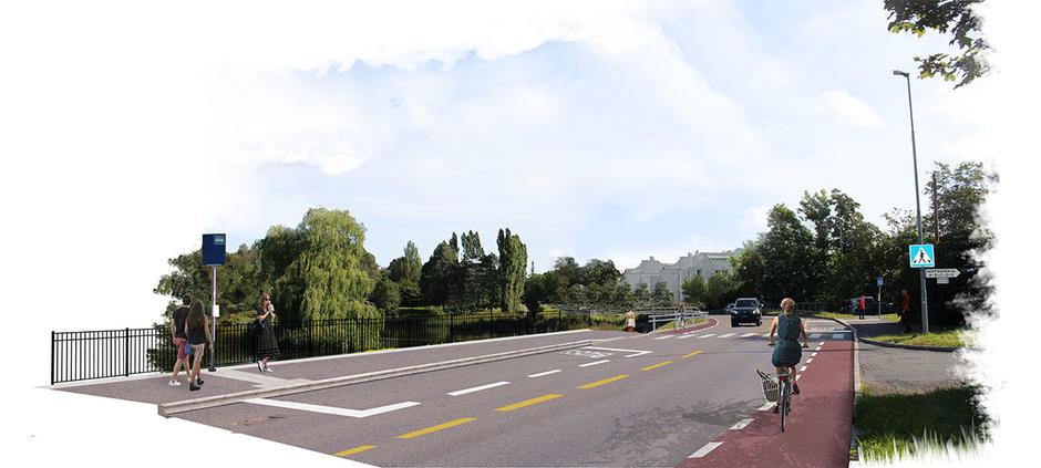 Sykkelfelt i Hoffsveien