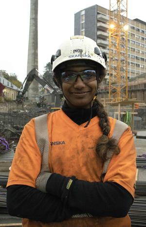 Betongarbeider Kawsica Rashasingham.