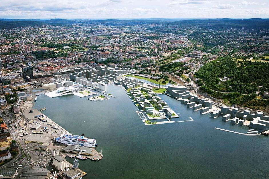Bjørvika, Oslo (Illustrasjon: Millimeterpress)