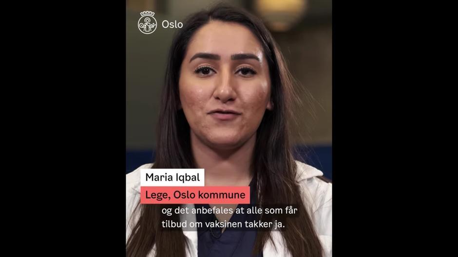 Film om koronavaksine på flere språk.