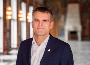 Portrett av finansbyråd Einar Wilhelmsen