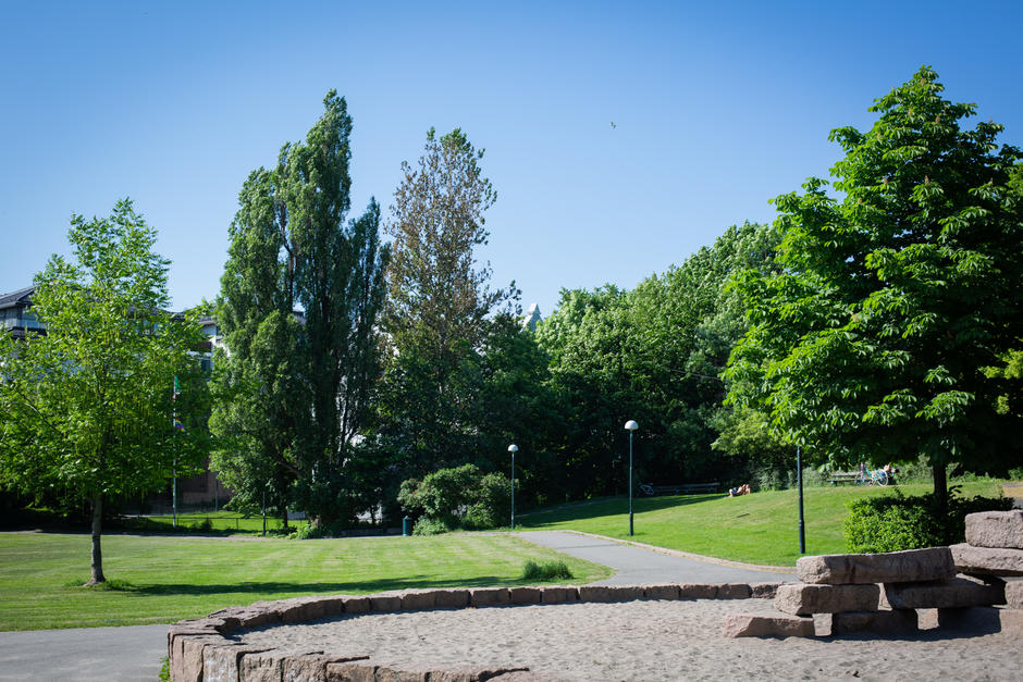 Oversiktsbilde over parken Frøyas have