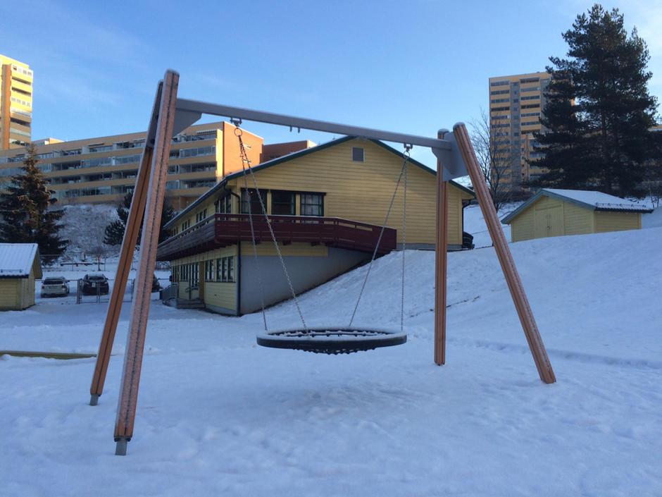 Uteområdet i Trosterud senter barnehage