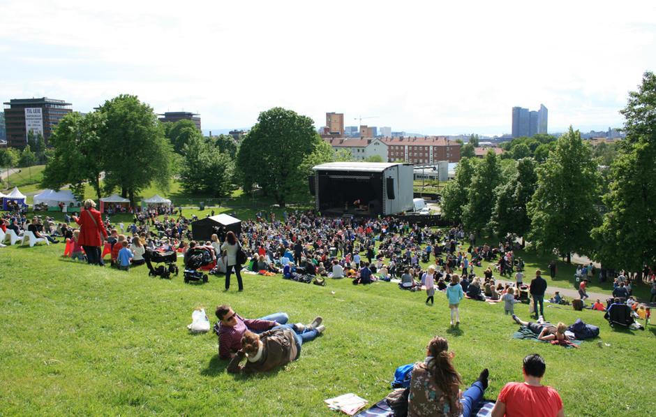 Konsert i Tøyenparken.
