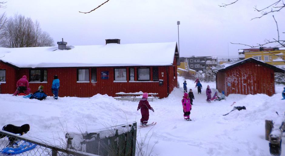Kurland barnehage vinterstid