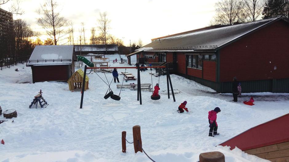 Uteområdet i Lohøgda barnehage