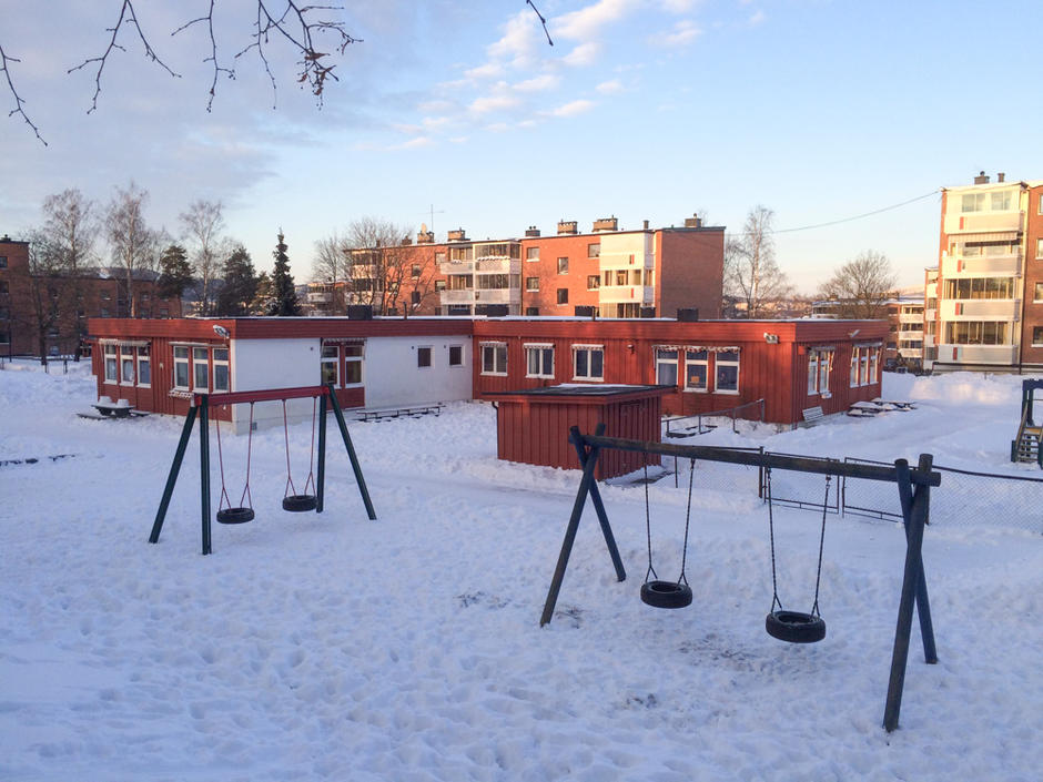 Uteområdet i Smalvollskogen barnehage